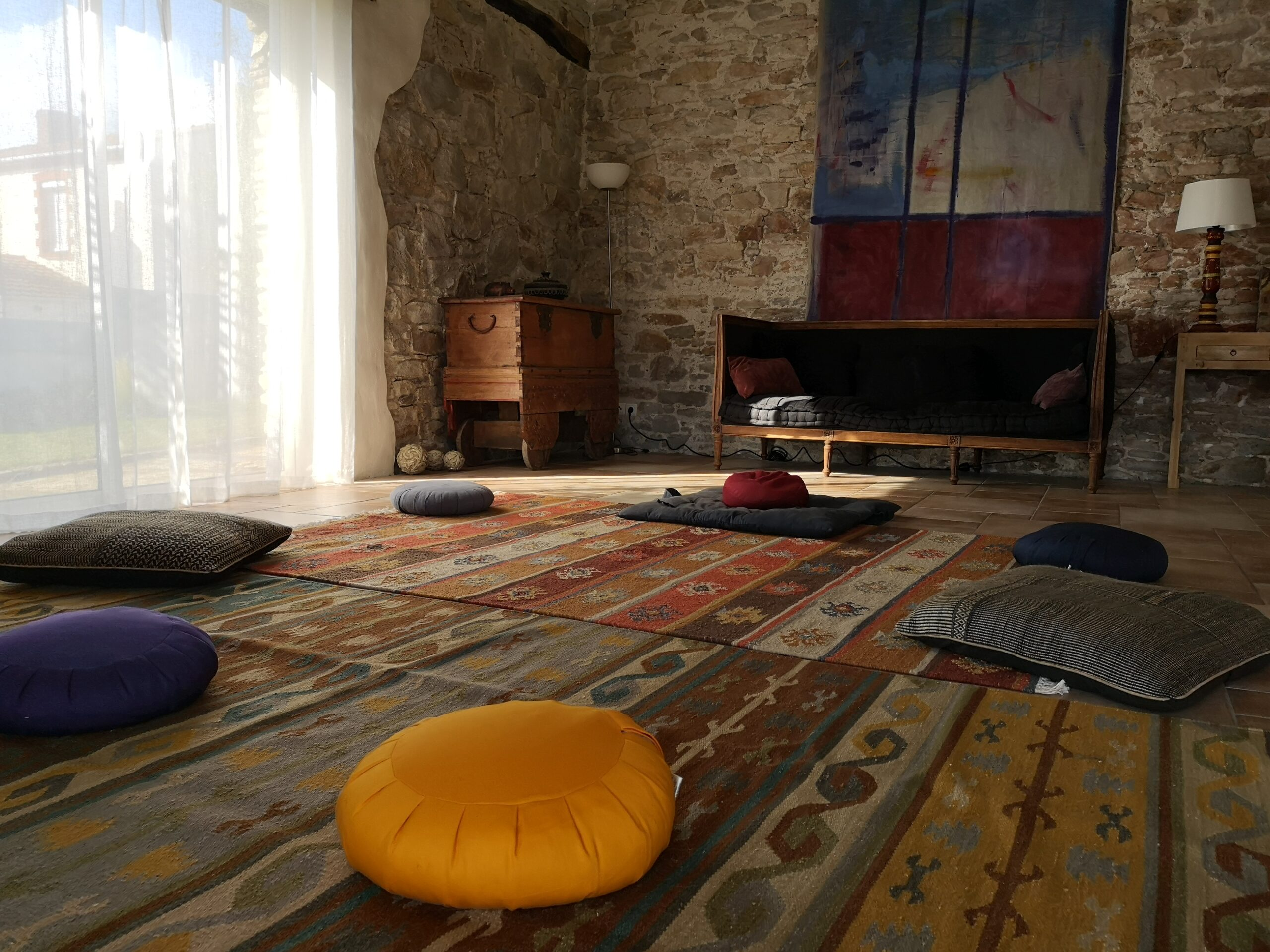 un lieu chaleureux pour méditer